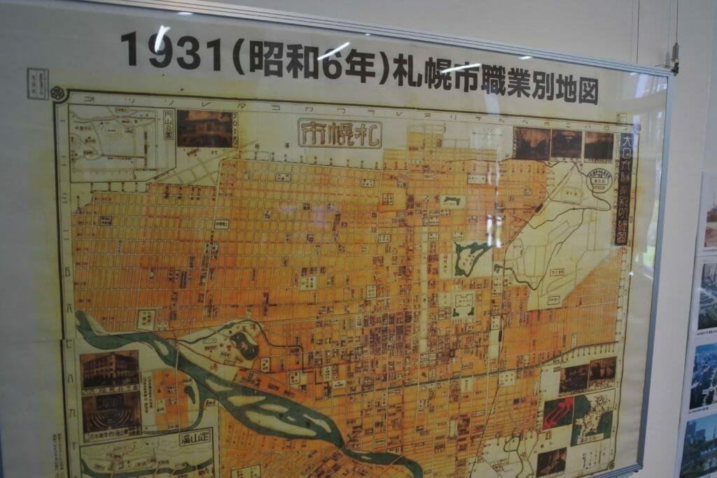 札幌の歴史を感じる昔の地図