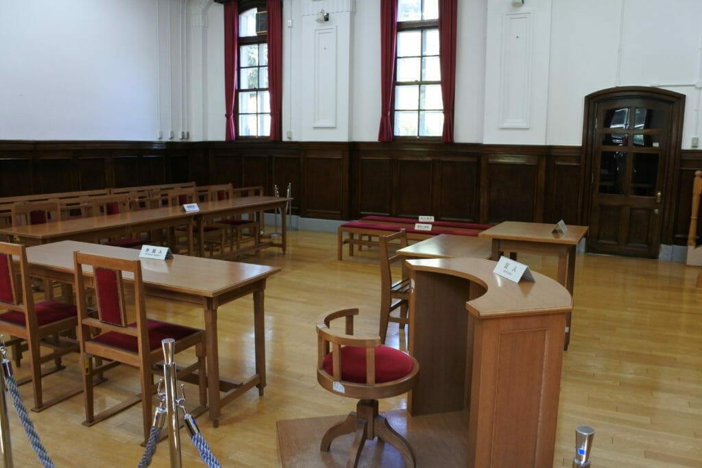 模擬裁判にも使われる札幌市資料館内