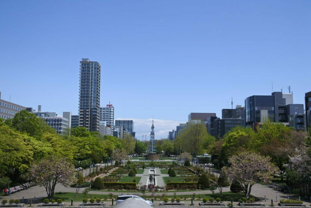 大通公園-札幌市資料館2階から