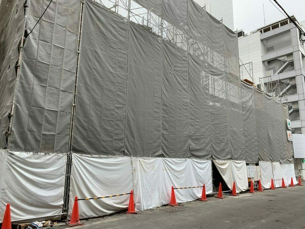 建設中の現場-札幌市中央区
