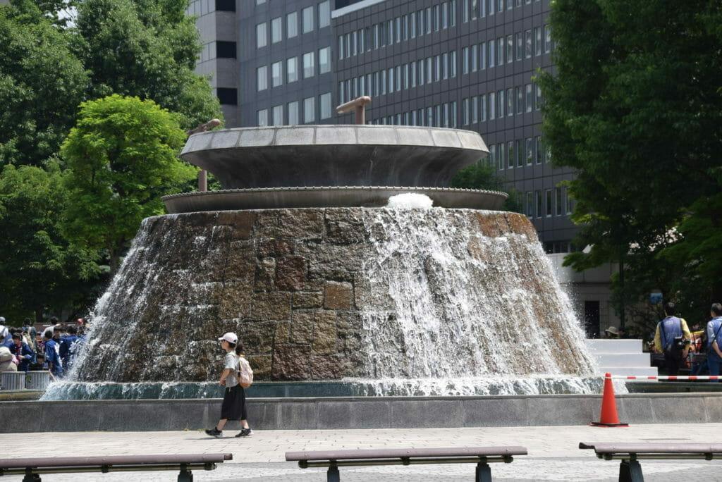 噴水が涼しげな夏の大通公園-札幌