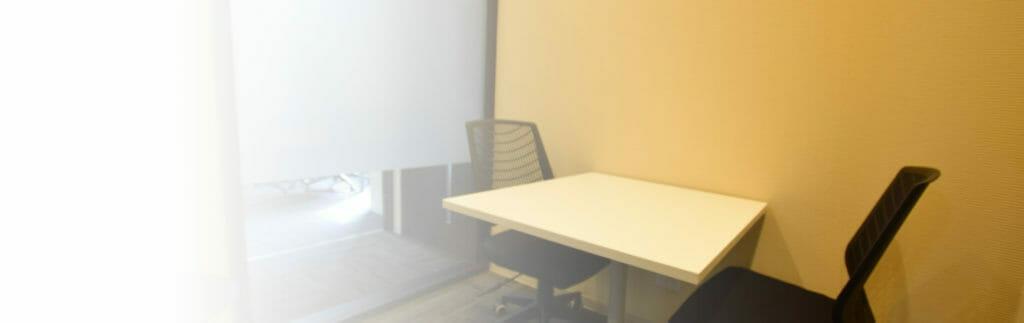 無料相談に使用するカウンセリングルーム