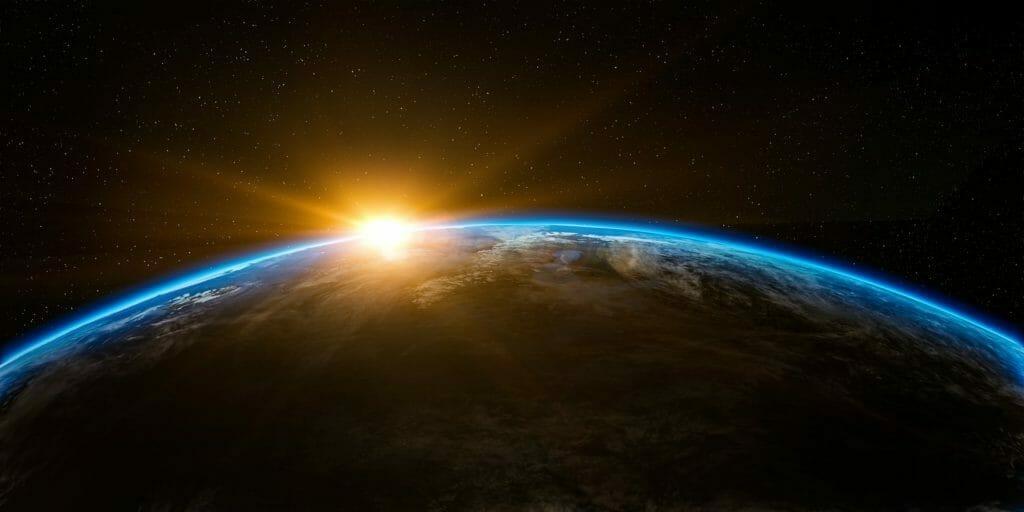 宇宙から見える太陽