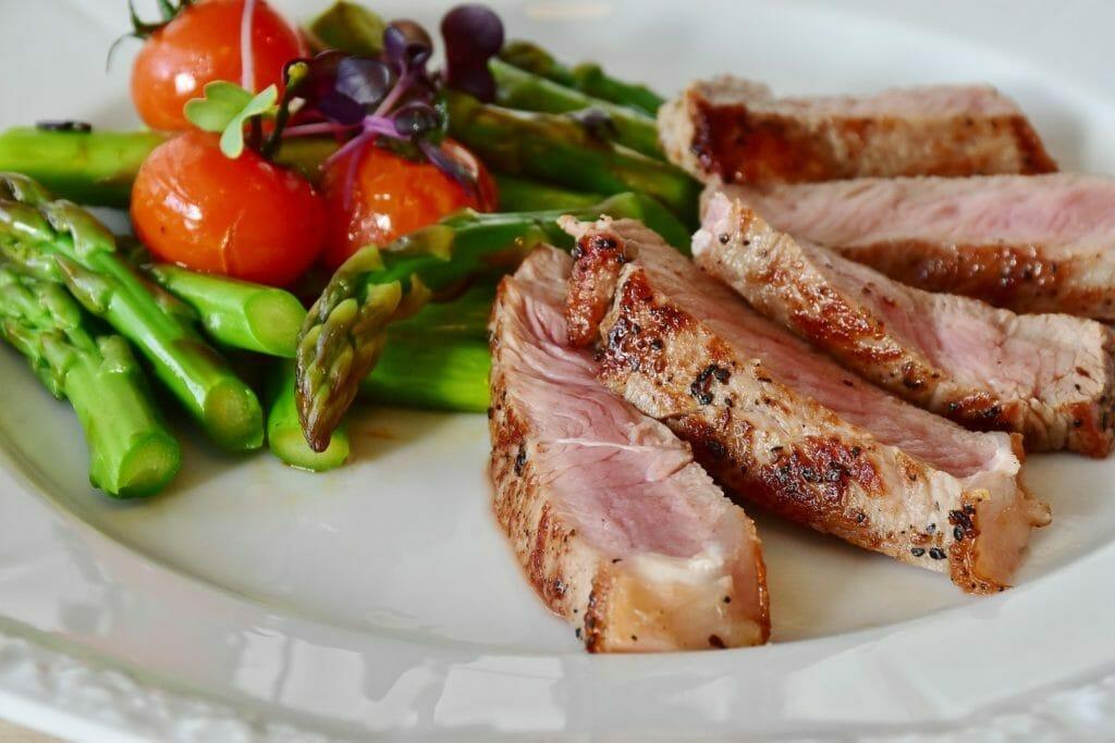 美味しそうな食事-肉-野菜